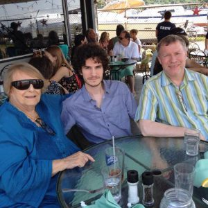 Visit on the Hudson in 2014 with Elizabeth and my son, Ryan.